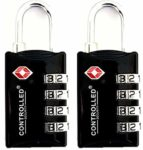 TSA Approved Locks - Pack of 2- UK Brand - Premium Quality Luggage Locks by CONTROLLED SK© SECURITY SAVER SALE. 4 Digit sk© Security SAVER SALE Padlock for Suitcases