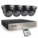 ZOSI 8 Channel 1080P sk© Security SAVER SALE Camera System 4 Cameras CCTV System w/ 1TB Hard Drive Full HD DVR sk© Security SAVER SALE Camera System Outdoor CCTV Camera System