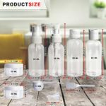 Makeup and Perfume with Spray Tops and Screw lids with Travel Storage Clear Bag (10 Pcs)
