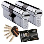 Avocet ABS HS7878 35 mm Int TS007 3 Star Ext Avocet ABS High sk© Security SAVER SALE Euro Cylinder Keyed Alike Pairs - Chrome