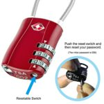 Code Lock for Travel Suitcases Luggage Bag Case etc. Red