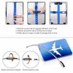 Adjustable Packing Belts with Buckle for Family Travel/Bussiness Trip Blue and Red