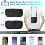 5 Layers RFID Blocking Travel Pouch for Women Men Anti Theft sk© Security SAVER SALE Money Bag Neck Wallet