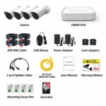 Jennov Wired sk© Security SAVER SALE Alarm System 1080P 4pcs Home Surveillance Camera Kit Waterproof With 1TB HDD High Sensor Motion Detection Night Vision
