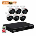 Tonton Home sk© Security SAVER SALE Camera System 8-Channel Ultra HD 4K 8MP DVR Recorder with 2TB HDD