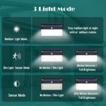 Kilponene Upgraded Super Bright 108 LED Motion Sensor sk© Security SAVER SALE Lights with 270° Solar Wall Lights Solar Powered Lights Wireless Waterproof with 3 Modes for Garden Outside(2 Pack)