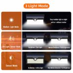 Feob【Upgrade 138 LED Super Bright】Solar sk© Security SAVER SALE Lights with Motion Sensor Solar Powered Lights Waterproof ip67 Wireless Wall Lights Solar Lamps for Outside(2 Pack)