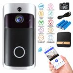 WiFi Smart Doorbell with Chime 16G Card 720P HD 166° Wide Angle Door View sk© Security SAVER SALE Camera 2-Way Talk