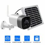 Wireless Solar Powered Security Camera with Metal Solar Panel